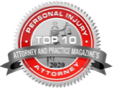 Top 10 personal injury attorney and magazines logo