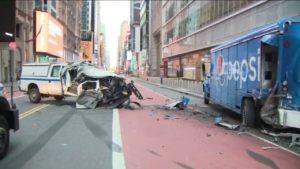 times square truck crash