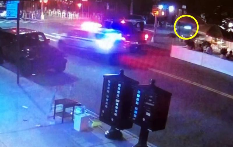NYPD running red light, hitting motorcyclist