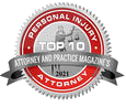 2021 attorney and practice magazine award for top 10 personal injury attorneys in new york