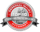 Top 10 Personal Injury Attorney, Attoneys and Practice Magazines Badge