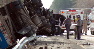 highway crash wreck truck