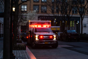 catastrophic injury patient arriving at a hospital in a NY ambulance