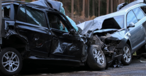 traffic accident resulting crushed cars