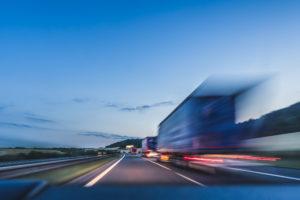 semi-truck speeding in upstate New York