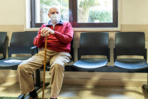 man in a NY nursing home with COVID-19