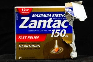 Box of Zantac 150 ranitidine tablet
