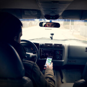 dangerous driving while writing sms text